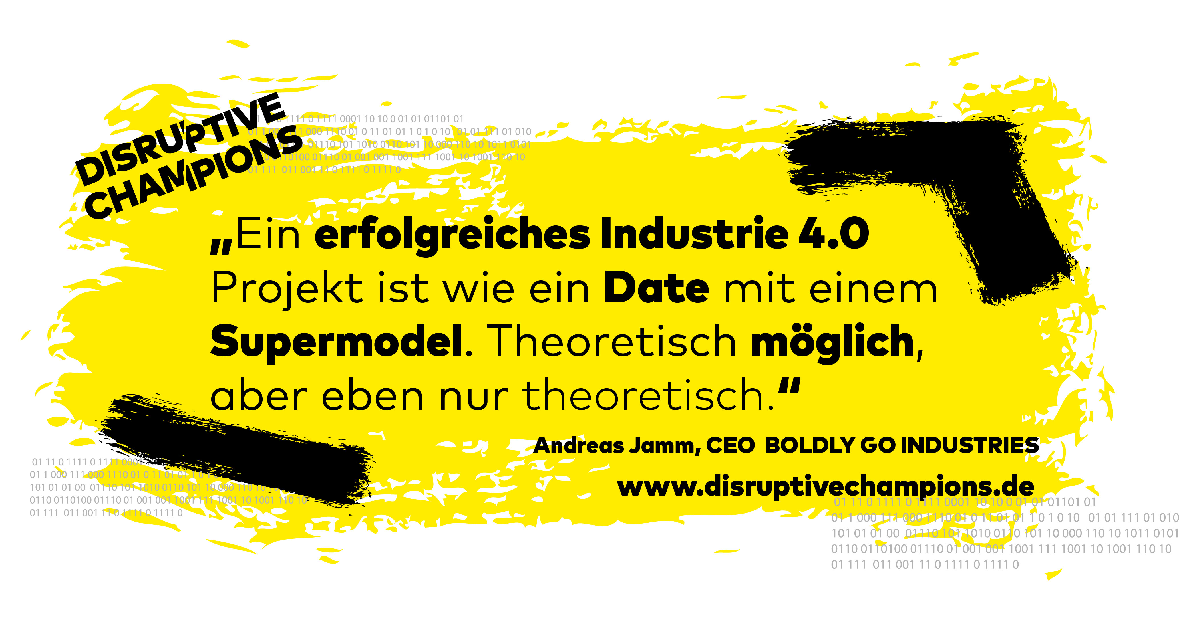 Disruptive Thought, Digitalisierung, Industrie 4.0